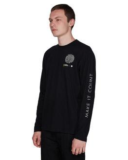 FLINT BLACK MENS CLOTHING ELEMENT TEES - EL-107057-IFL