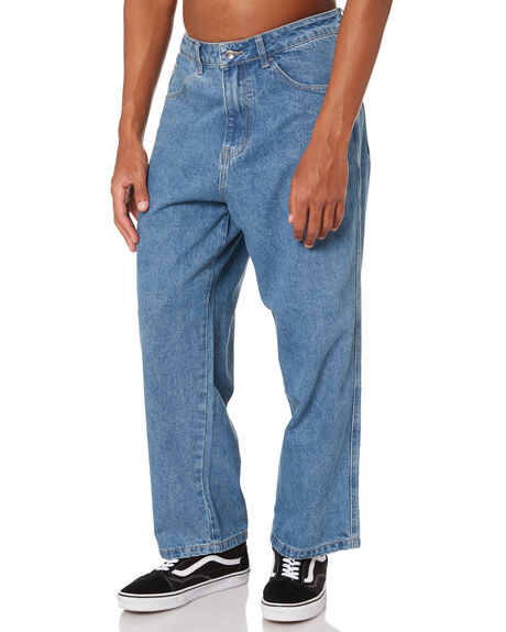 MID BLUE MENS CLOTHING XLARGE JEANS - XL013602MDBLU