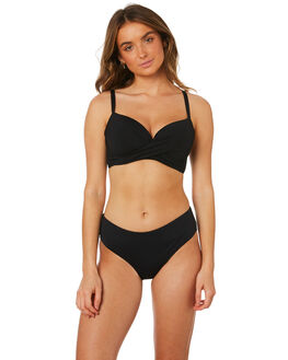 BLACK WOMENS SWIMWEAR SEA LEVEL AUSTRALIA BIKINI BOTTOMS - SL4015PBLK