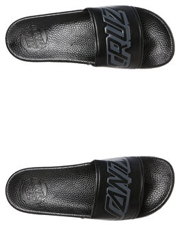 BLACK GREY MENS FOOTWEAR SANTA CRUZ SLIDES - SC-MYC7635BLKG