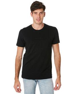 BLACK MENS CLOTHING RUSTY TEES - TTM2191BLK