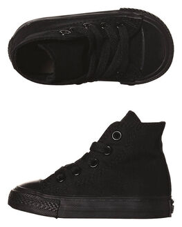 BLACK MONOCHROME KIDS TODDLER BOYS CONVERSE FOOTWEAR - 7S121BLKM