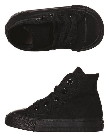 BLACK MONOCHROME KIDS TODDLER BOYS CONVERSE FOOTWEAR - 7S121BLKM