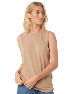 TAN WOMENS CLOTHING ALL ABOUT EVE SINGLETS - 6401057TAN