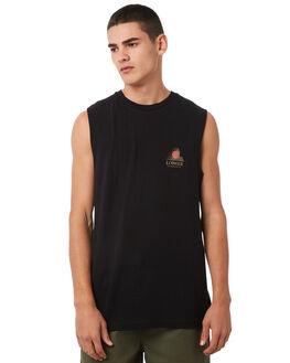 BLACK MENS CLOTHING LOWER SINGLETS - LO18Q3MSI01BLK