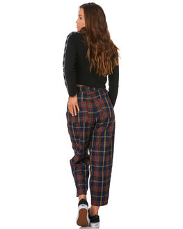 RUST NAVY WOMENS CLOTHING STUSSY PANTS - ST191617RUST