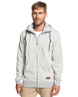 LIGHT GREY HEATHER MENS CLOTHING QUIKSILVER JUMPERS - EQYFT03835-SJSH