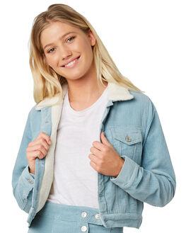 POWDER BLUE WOMENS CLOTHING ELWOOD JACKETS - W91504BHX