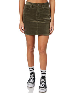 OLIVE WOMENS CLOTHING AFENDS SKIRTS - 5203052OLIVE