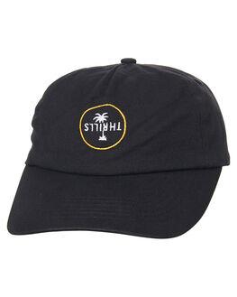 BLACK MENS ACCESSORIES THRILLS HEADWEAR - TS7-502BBLK