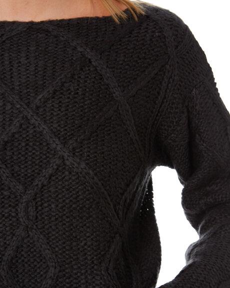 BLACK WOMENS CLOTHING LILYA KNITS + CARDIGANS - LS20-K05-AMBLK