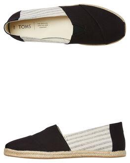 BLACK UNIVERSITY MENS FOOTWEAR TOMS SLIP ONS - 10013539BUNI