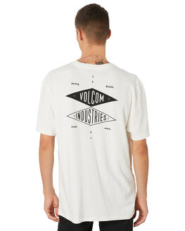 WHITE OUTLET MENS VOLCOM TEES - A4311965WHT