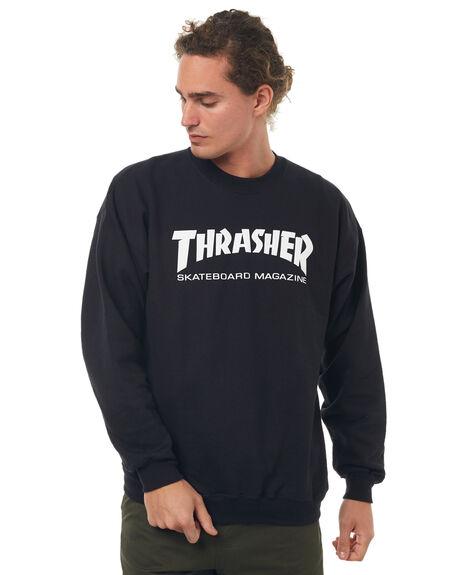 BLACK MENS CLOTHING THRASHER JUMPERS - 20265023BLK