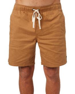 TAN MENS CLOTHING AFENDS SHORTS - M183361KHA