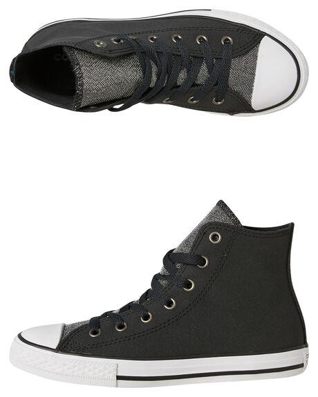 52708d1b71fdd9 Converse Kids Chuck Taylor All Star Glitter Hi Shoe - Black