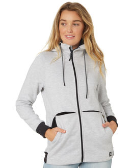 LIGHT GREY HEATHER WOMENS CLOTHING RIP CURL JACKETS - GFEHN13233