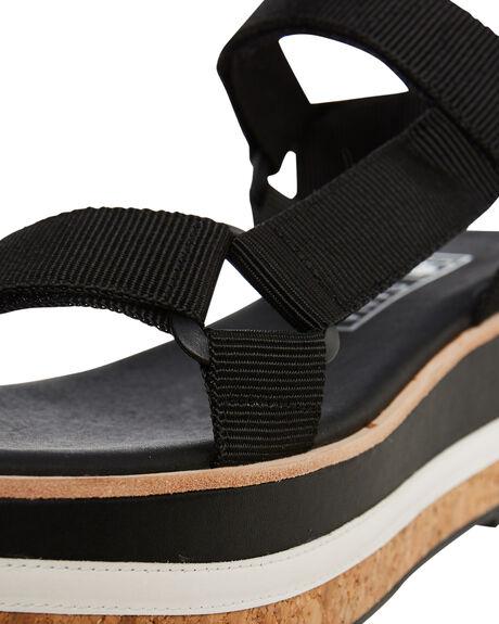 BLACK WOMENS FOOTWEAR SOL SANA FASHION SANDALS - SS191S318BLK
