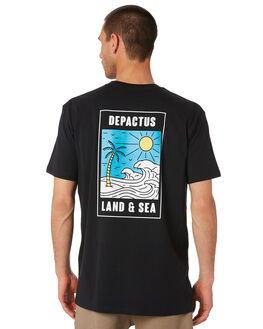 BLACK MENS CLOTHING DEPACTUS TEES - D5193003BLACK