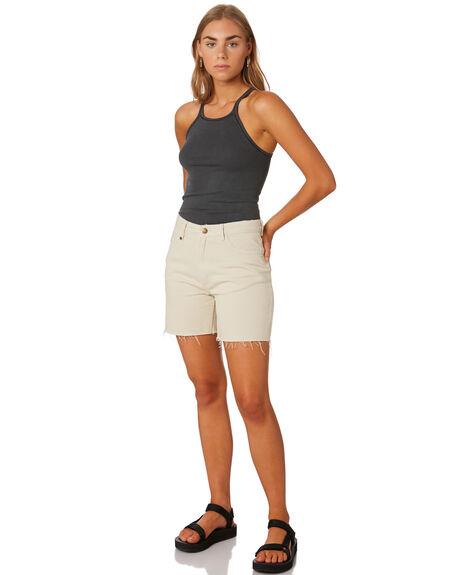 DIRTY WHITE WOMENS CLOTHING THRILLS SHORTS - WTDP-315AWHT