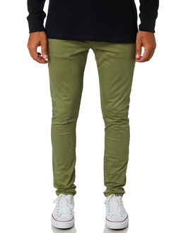 OLIVE MENS CLOTHING ACADEMY BRAND PANTS - 19W104OLI
