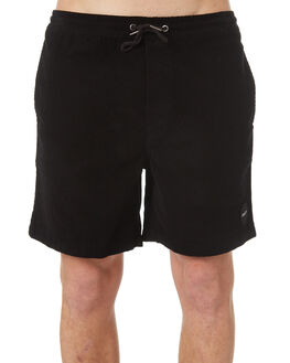 BLACK MENS CLOTHING RVCA SHORTS - R181315BLK