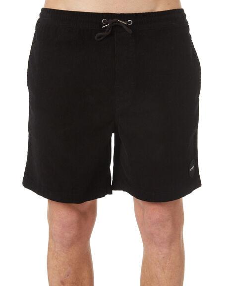 BLACK MENS CLOTHING RVCA SHORTS - R181315BLK