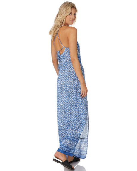 AMPARO BLUE WOMENS CLOTHING RUSTY DRESSES - DRL1015BLUE