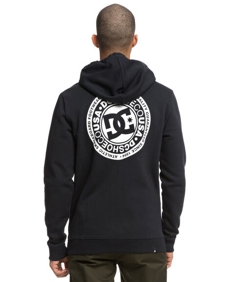 BLACK MENS CLOTHING DC SHOES JUMPERS - EDYSF03174KVJ0
