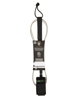 CLEAR BLACK GREEN BOARDSPORTS SURF FK SURF LEASHES - 1280CBKGR
