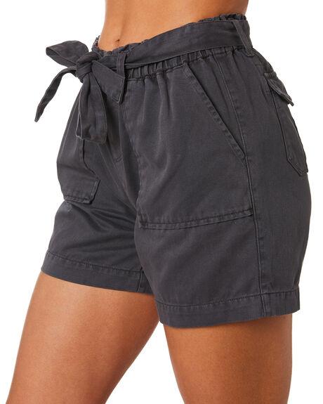CHARCOAL WOMENS CLOTHING RHYTHM SHORTS - JUL19W-WS03CHAR