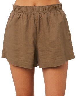 CHOCOLATE WOMENS CLOTHING NUDE LUCY SHORTS - NU23803CHOC