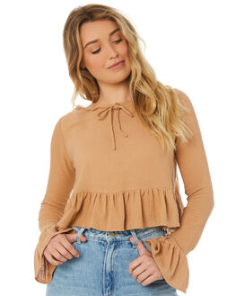 DUSTY PINK WOMENS CLOTHING RUE STIIC FASHION TOPS - WS18-30-DP-CPPNK
