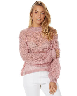 ROSE BLACK WOMENS CLOTHING ZULU AND ZEPHYR KNITS + CARDIGANS - ZZ1371ROS