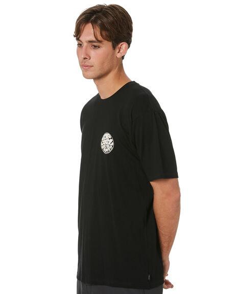 BLACK MENS CLOTHING RIP CURL TEES - CTEST90090