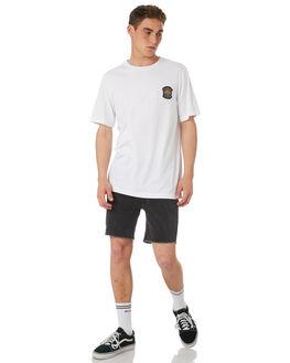 WHITE MENS CLOTHING RVCA TEES - R182044WHT