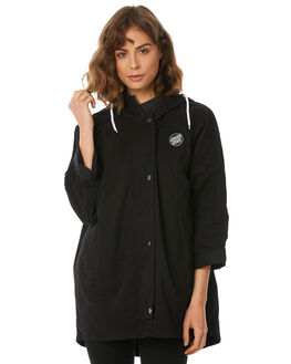 BLACK WOMENS CLOTHING SANTA CRUZ JACKETS - SC-WJA8526BLK