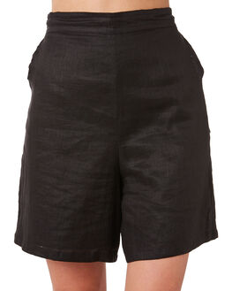 BLACK WOMENS CLOTHING ZULU AND ZEPHYR SHORTS - ZZ2887BLK