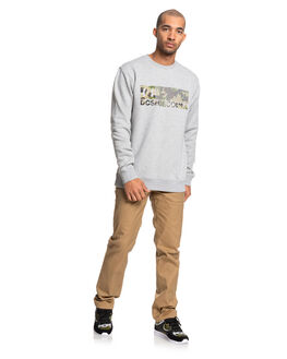GREY HEATHER MENS CLOTHING DC SHOES JUMPERS - EDYSF03212-KNFH