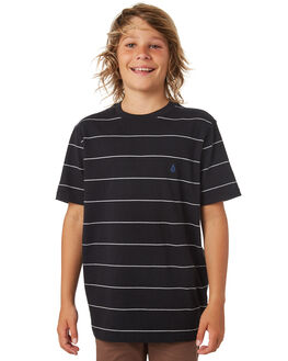 BLACK KIDS BOYS VOLCOM TEES - C0141801BLK