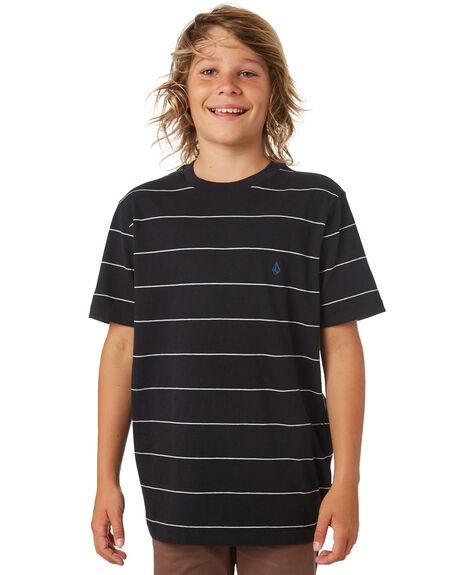 BLACK KIDS BOYS VOLCOM TOPS - C0141801BLK