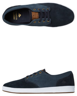 NAVY BLUE GOLD MENS FOOTWEAR EMERICA SKATE SHOES - 6102000089-423