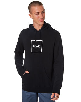 BLACK MENS CLOTHING HUF JUMPERS - PF00098-BLACK
