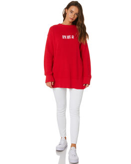 RED WOMENS CLOTHING RPM KNITS + CARDIGANS - 9AWT13ARED