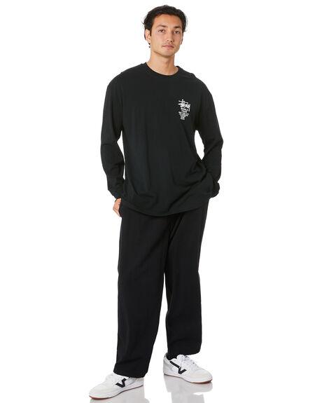 BLACK MENS CLOTHING STUSSY TEES - ST006015BLK