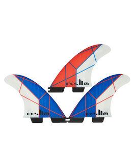 BLUE WHITE BOARDSPORTS SURF FCS FINS - FKAM-PC04-TS-RBLUWH