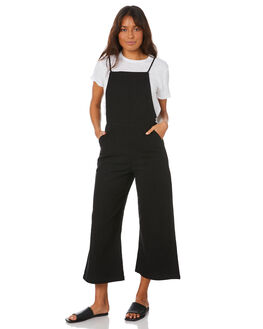 BLACK WOMENS CLOTHING RUSTY PLAYSUITS + OVERALLS - MCL0330-BLK