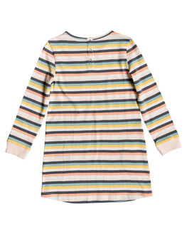 SALMON CANDY STRIPES KIDS GIRLS ROXY DRESSES + PLAYSUITS - ERLKD03061-MFG3