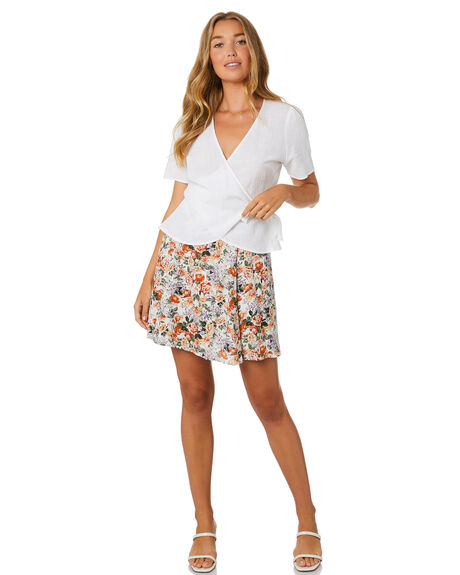 FLORAL WOMENS CLOTHING LULU AND ROSE SKIRTS - LU23898FLR