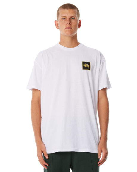 WHITE MENS CLOTHING STUSSY TEES - ST086007WHT
